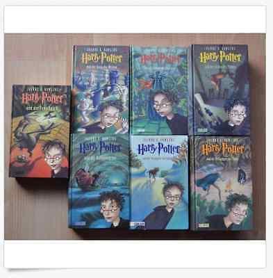 Harry Potter Buchreihe Bücher Band 1-7 Komplettreihe Gebundene Ausgabe Hardcover