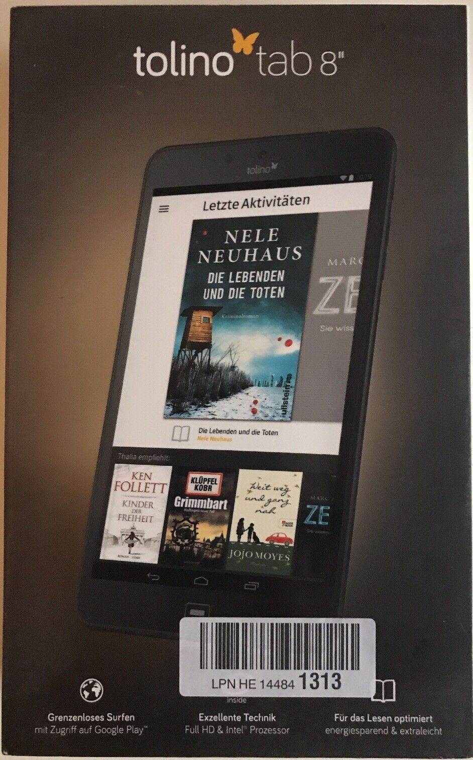 Tolino Tab 8 16GB, WLAN, 20,3 cm (8 Zoll) - Schwarz - Tablet mit Android