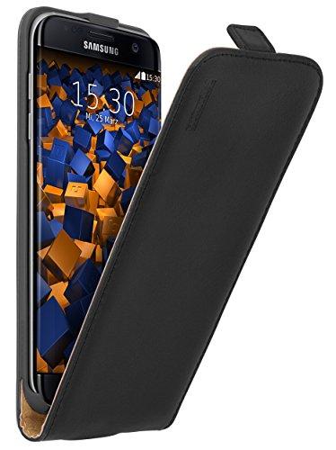 mumbi PREMIUM Leder Flip Case für Samsung Galaxy S7 Edge Tasche