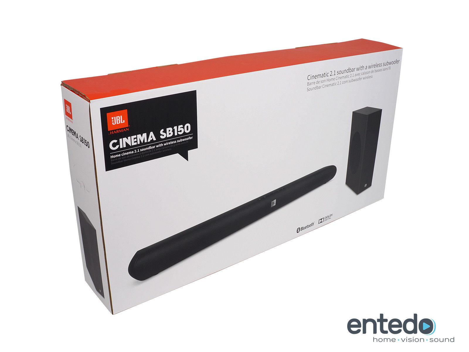 JBL Cinema SB150 Soundbar mit Wireless Aktiv Subwoofer Lautsprecher Bluetooth