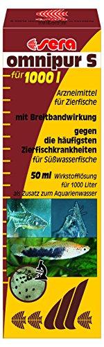 sera 02170 omnipur S 50 ml - Arzneimittel mit Breitbandwirkung gegen die häufigsten Zierfischkrankheiten im Süßwasser