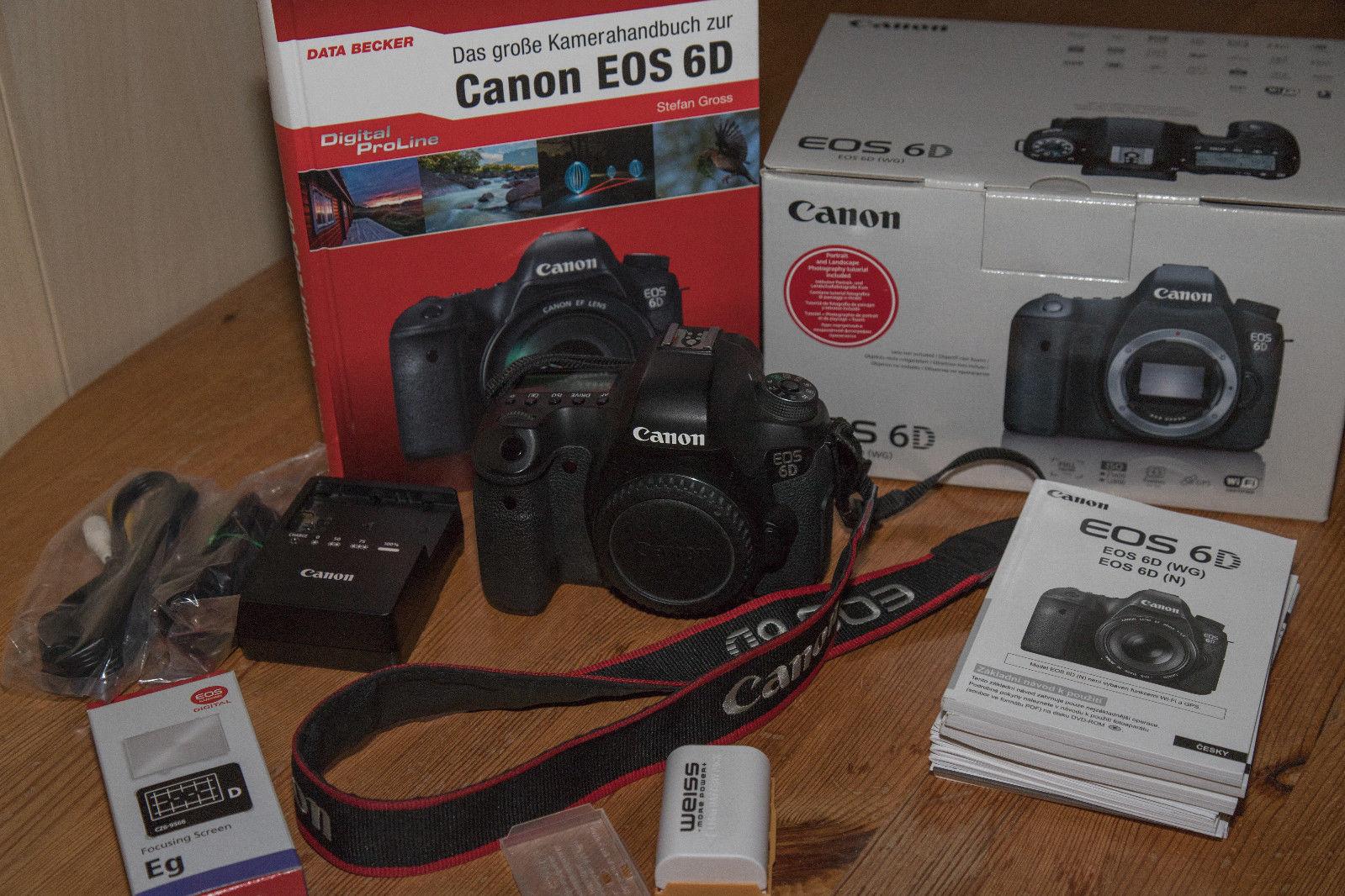 Canon EOS 6D 20,2 MP SLR-Digitalkamera - nur Gehäuse - inkl.Zubehörpaket