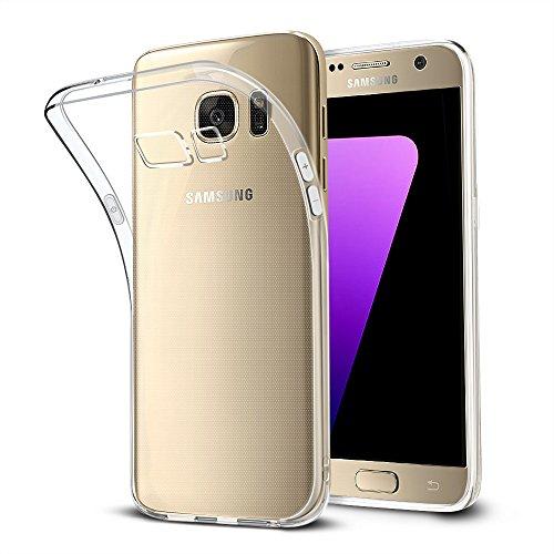Schutzhülle für Samsung Galaxy S7, Bodyguard [Crystal Clear] Soft Silikon Bumper Case Cover, Ultra Dünn Durchsichtige Handyhülle für Samsung Galaxy S7 5.1'' - Transparente