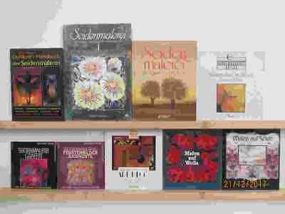 54 Bücher Vorlagen Seidenmalerei Seisenmalen Malen auf Seide Grundlagen Handbuch