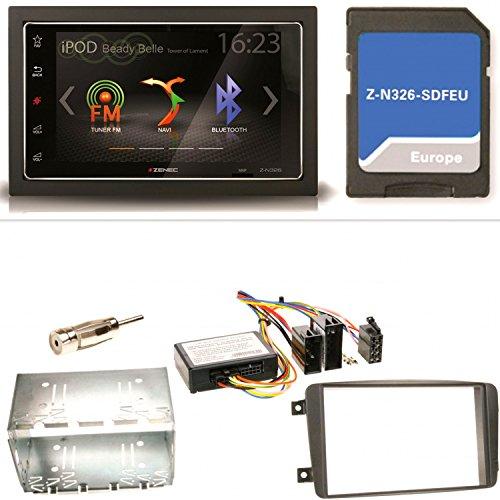ZENEC Z-N326 Navigation Bluetooth USB MP3 Autoradio Naviceiver Einbauset für Mercedes C-Klasse W203 CLK W208 W209
