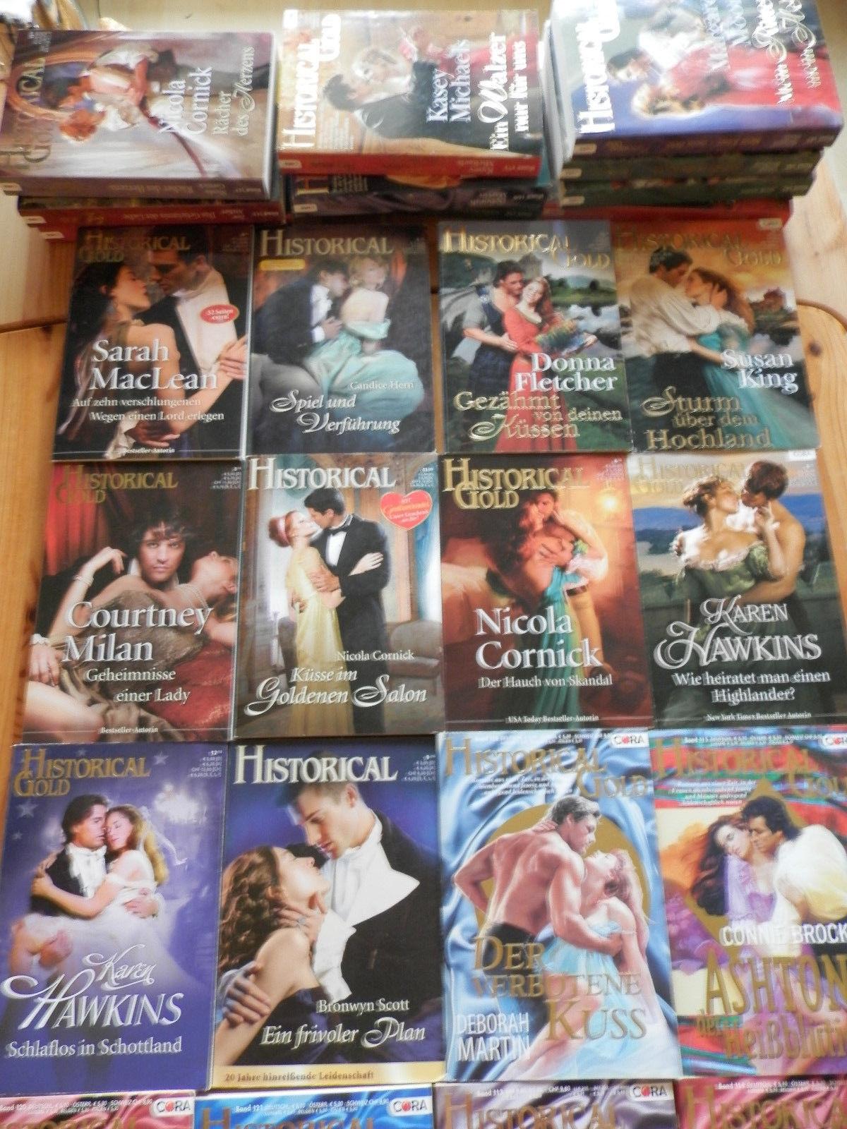 Bücherpaket mit 34 Historischen Liebesromanen z.B. Historical, Historical Gold