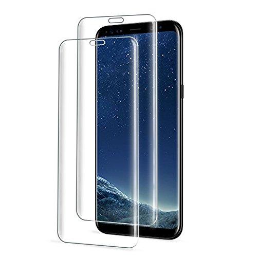 Ecoke Schutzfolie für Samsung Galaxy S8, [2 Stück] S8 Panzerglas, 9H Härte Super Langlebig, Anti-Öl, Kratzer, Luftbläschen-frei und Fingerabdruck, Panzerglasfolie Displayschutzfolie für S8