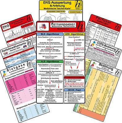 Rettungsdienst Karten-Set - professional ( 11 Karten-Set )