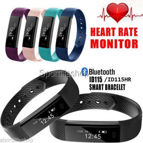 Wasserdicht Armband Pulsuhr Schrittzähler Bluetooth Fitness Activity Tracker DE