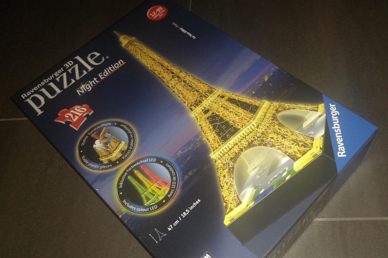 3D Puzzle Ravensburger Night Edition Eifelturm