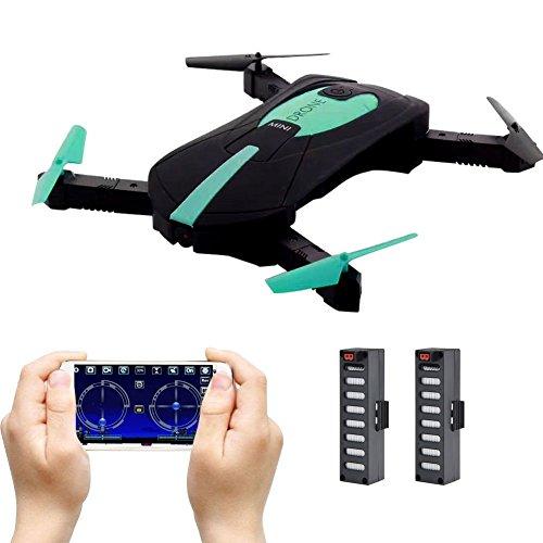 JY018 faltbare Drohne mini, selfie Drohne mit Kamera Live Übertragung WIFI FPV Handy APP-Steuerung G-Sensor Steuerung automatische Schwebe 3D Flip Stunt Headless Modus für alle Stufen-Piloten