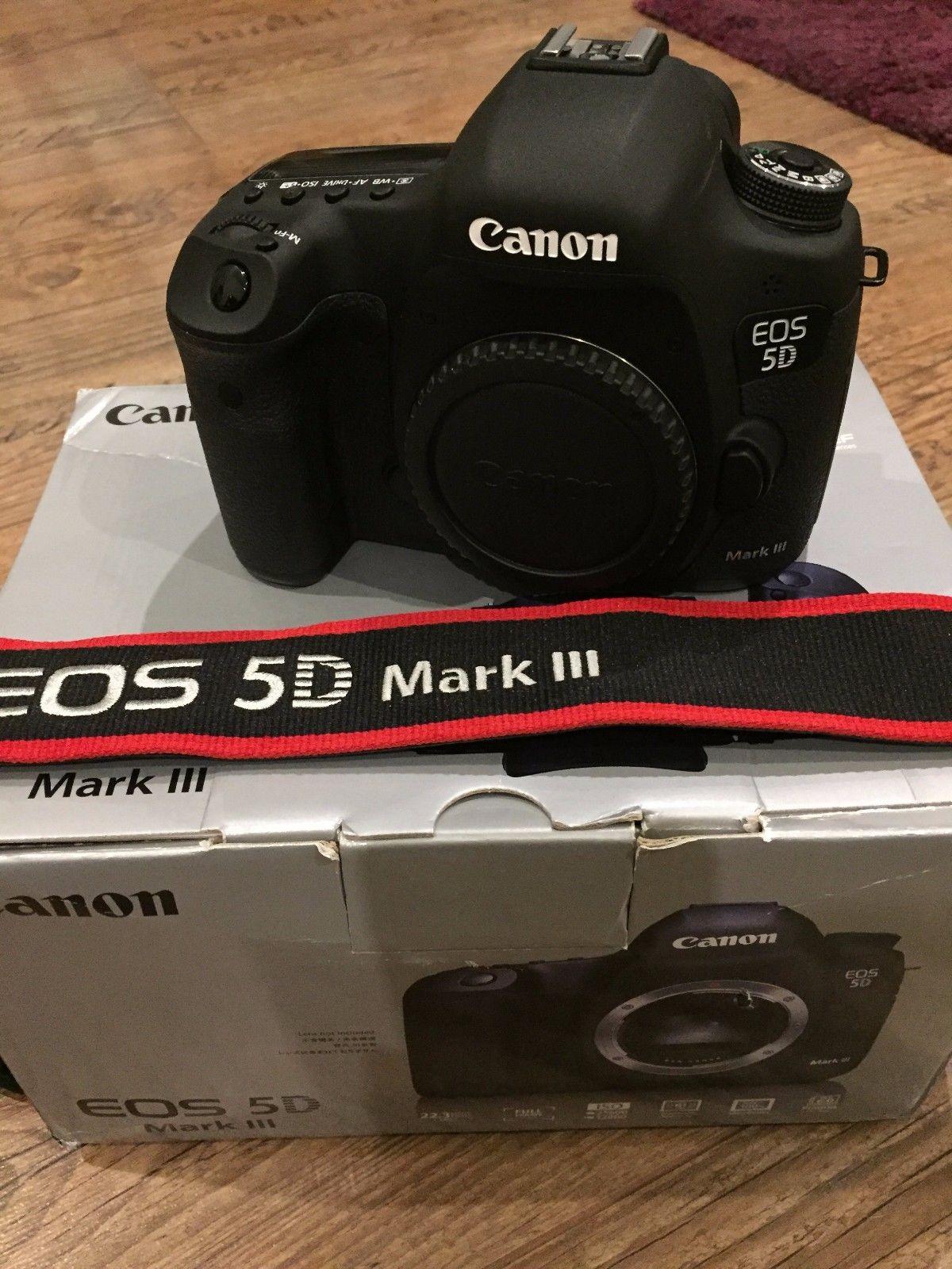 Canon EOS 5D Mark 3 III SLR-Digitalkamera nur 2877 Klicks wie neu