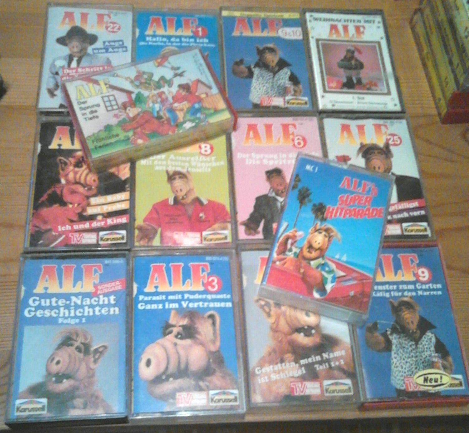 ALF 4 Kassetten Auswahl aus Liste - Karussel Hörspiel Kassetten wählen aussuchen