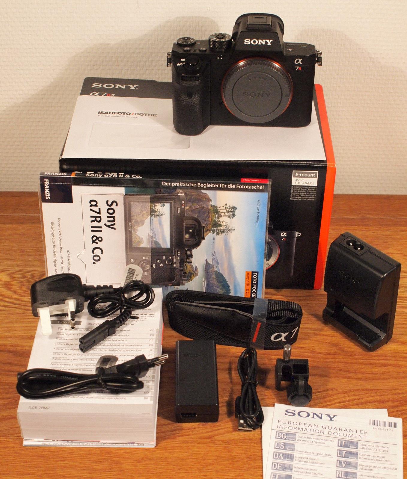 Sony Alpha A 7R II neuwert. ca. 3200 Bilder, deutsch./europ. Modell mit dt. Menu