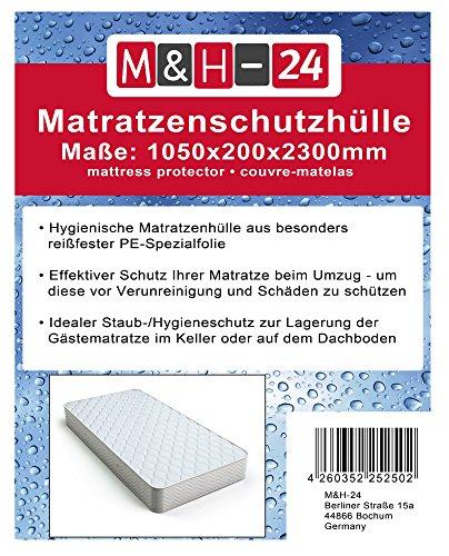 Matratzenhüllen Matratzenschutzhüllen Matratze-Schutzhülle für Matratzen bis 90x200 100x200, geruchsneutral reißfest, Sicherer Schutz für Umzug, Transport, Lagerung, 80µ