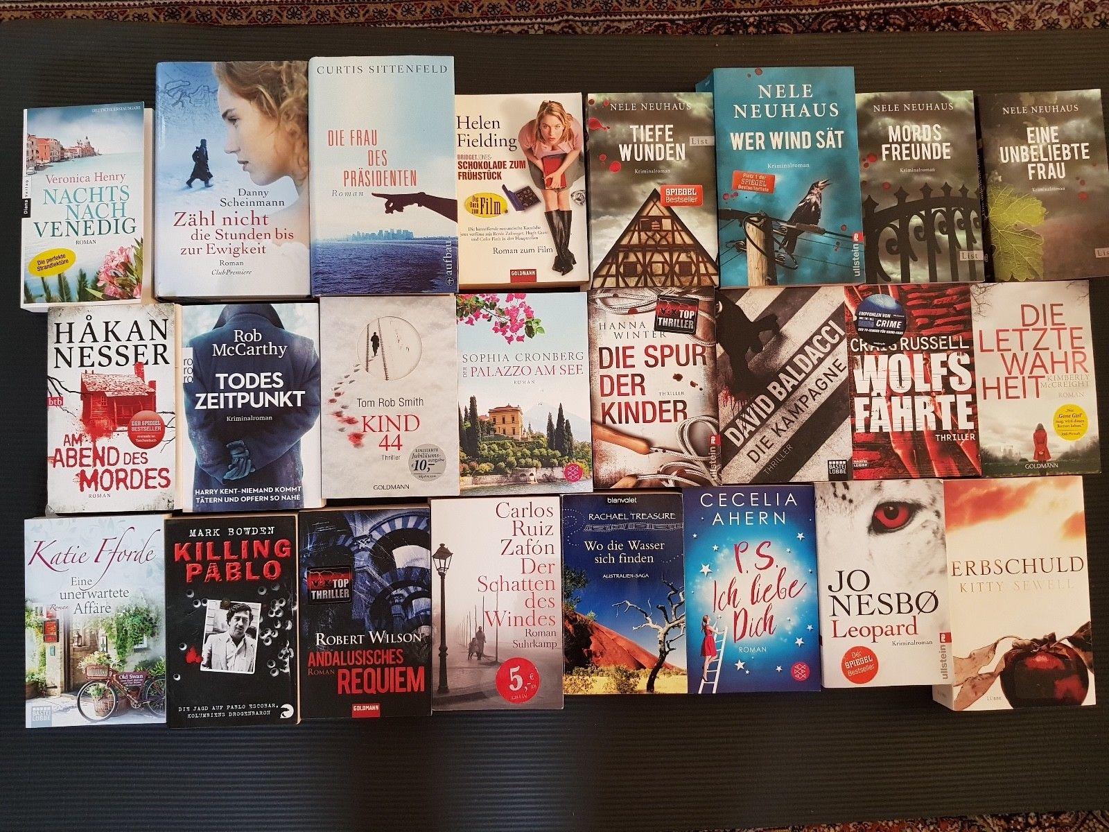 Bücherpaket, 24 Stück, Krimis, Thriller, Romane