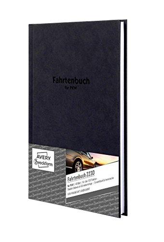 Avery Zweckform 223D Fahrtenbuch, DIN A5, steuerlicher km-Nachweis, 48 Blatt, weiß