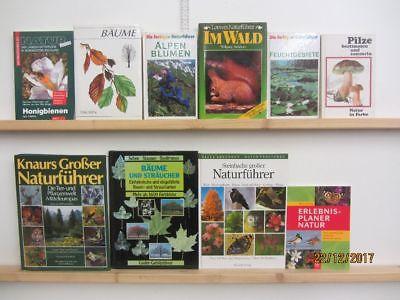 50 Bücher Naturführer Bestimmungsbücher Pflanzen Tiere Mineralien Pilze u.a.