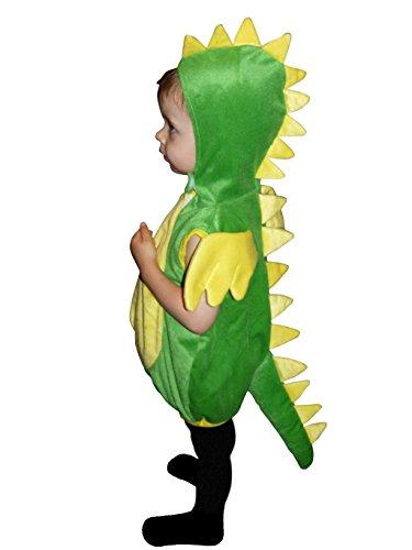 Drachen-Kostüm, F82 Gr.98-104, für Kinder, Drache Kind Drachen-Kostüme für Fasching Karneval, Kleinkinder-Karnevalskostüme, Kinder-Faschingskostüme, Geburtstags-Geschenk Weihnachts-Geschenk
