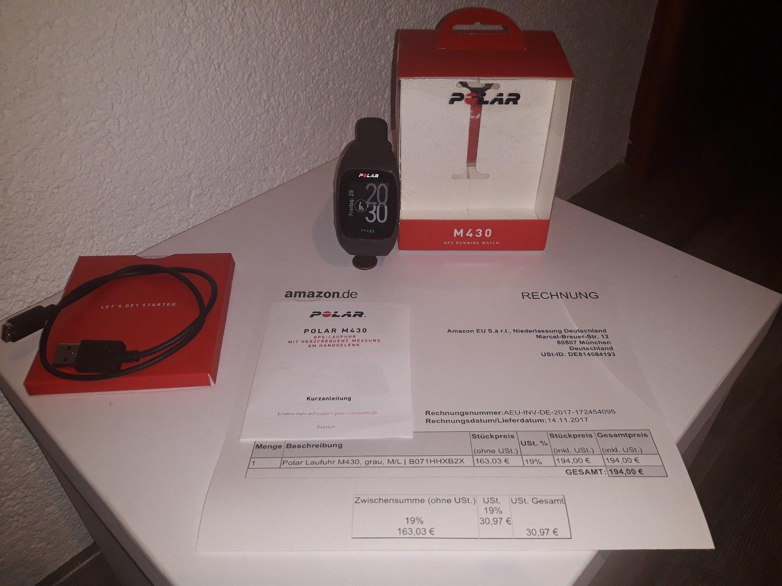 Polar M430 GPS-Sportuhr Laufuhr - OVP - inkl. Rechnung und Garantie