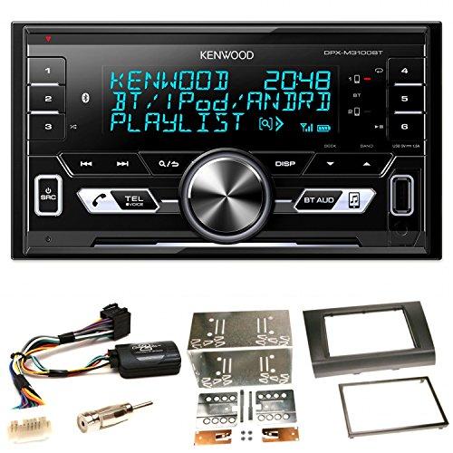 Kenwood DPX-M3100BT Bluetooth USB MP3 Autoradio AOA2.0 iPhone iPod Doppel Din Einbauset für Suzuki Swift Sport EZ MZ