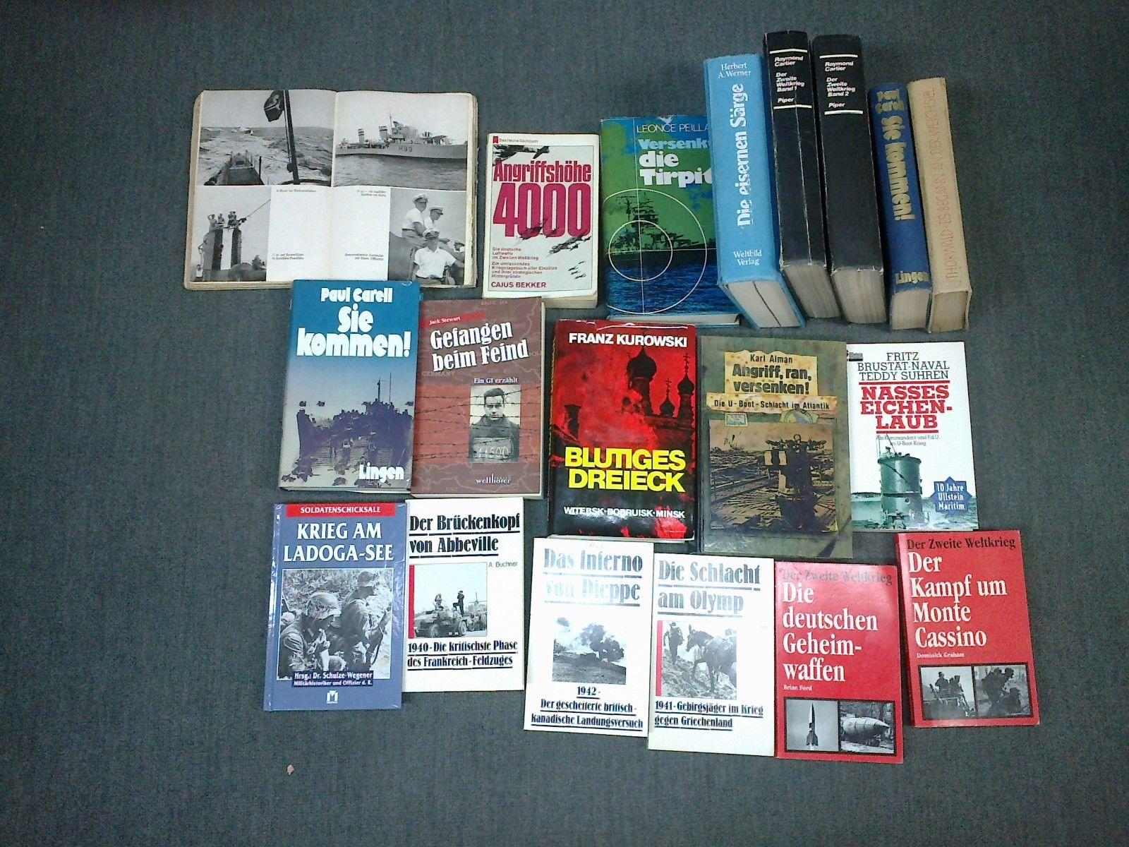 19 x Bücher über den 2. Weltkrieg,Raritäten dabei!