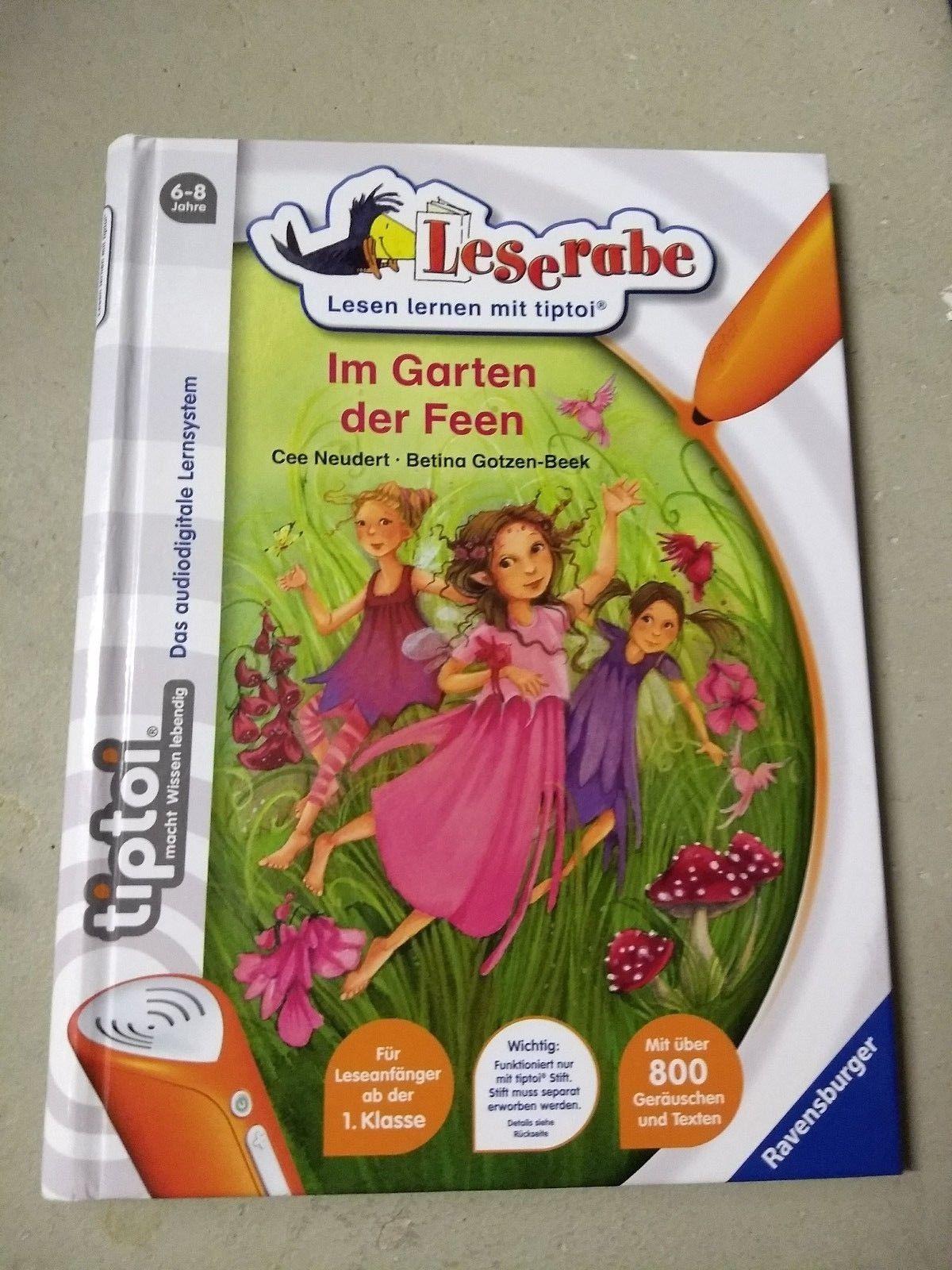 3 Leselernbücher für Mädchen ab 6 Jahren, Ravensburger, TipToi Im Garten der Fee