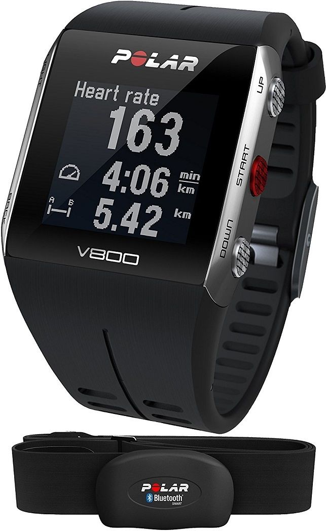Polar V800 GPS - Trainingscomputer inkl. H7-Herfrequenz-Sensor, Schwarz