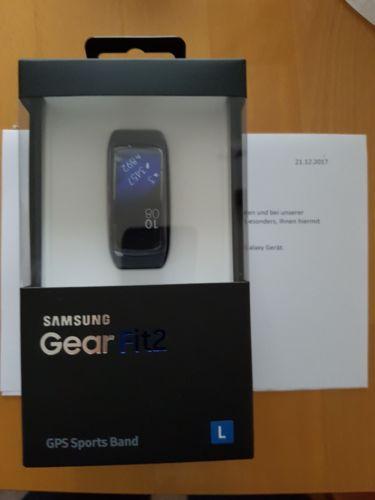 Samsung Gear Fit 2 gr L Schwarz