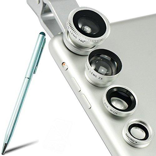 First2savvv JTSJ-4N1-A16G4 Silber Handy Universal 4 in 1 Clip Kamera Profiklasse Lens Kit (Fischauge, Weitwinkel, Makro-Objektiv und Barlow) für Iphone 4 4s 5 5s 5c 6 Iphone 6 plus 6s ipod touch 4 ipod touch 5th generation sony xperia Z E L SP ZR M z Ultr