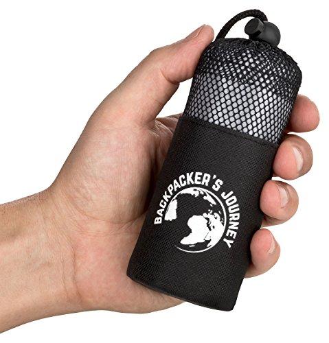 Backpacker's Journey ultrakleiner und ultraleichter (155g) Reiseschlafsack mit 2 Packvarianten, Hüttenschlafsack leicht, dünn, Inlett aus Mikrofaser. Ideal für Backpacking, Hostels und Hütten