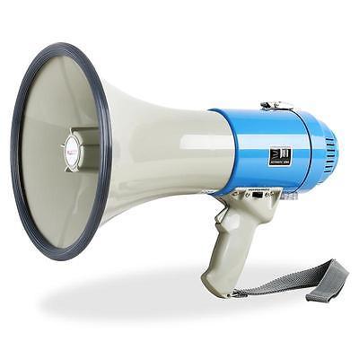 Megaphon Megafon Sprachrohr Sirene Fussbal Tröte Sprach Verstärker Blau 1000M