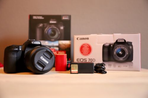 Canon EOS 70D 20.2 MP SLR-Digitalkamera - Schwarz (Kit m/ EF-S 18-55mm f/3.5-5.6