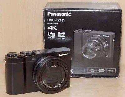 PANASONIC DMC-TZ101 Digitalkamera Schwarz, 20.1 Megapixel,  schwarz