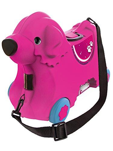 BIG Spielwarenfabrik 800055353 -Bobby-Trolley, Kinderkoffer, Kindergepäck, rosa