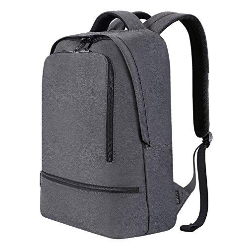 REYLEO Business Rucksack Herren Wasserdichte 14.1 Zoll Laptop Tasche Backpack Für Arbeit Und Stadt Grau