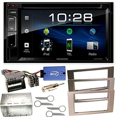 Kenwood DDX-318BT Bluetooth Moniceiver CD DVD MP3 USB AOA2.0 iPhone Spotify Control USB MP3 Autoradio Einbauset für Ford Focus C-Max Fiesta Transit