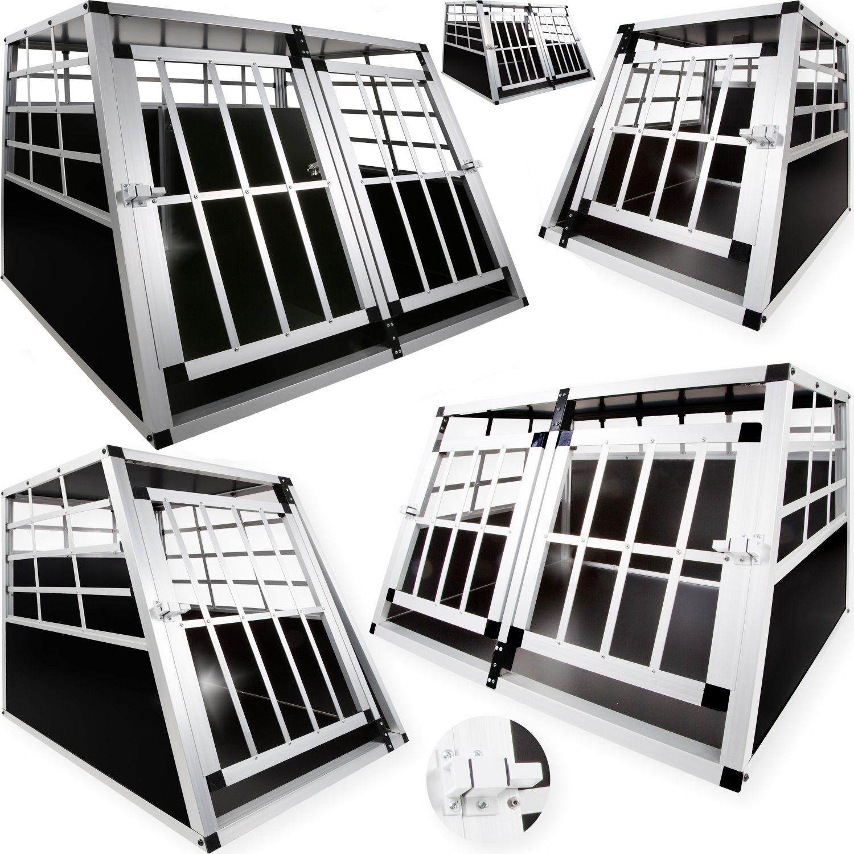 LovPet® Hundebox Transportbox Alubox Hundetransportbox Reisebox Gitterbox ALU