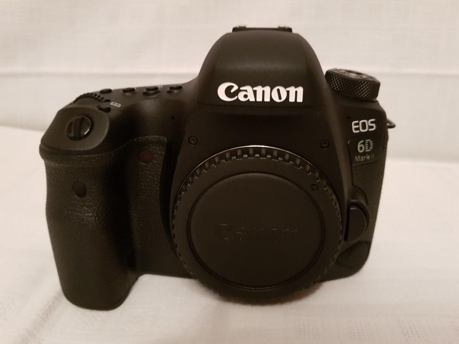 CANON EOS 6D Mark II 26.2MP Digitalkamera - Schwarz (Kit mit nur Gehäuse)