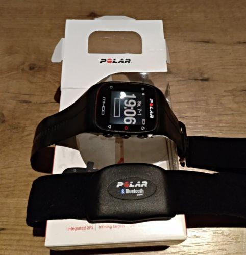 Polar M400 HR GPS Laufuhr inkl Brustgurt H7 schwarz