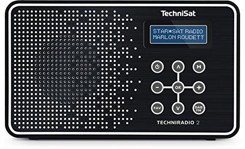 TechniSat TECHNIRADIO 2 (tragbar, DAB+/DAB, UKW-Empfang, Favoritenspeicher) schwarz/weiß