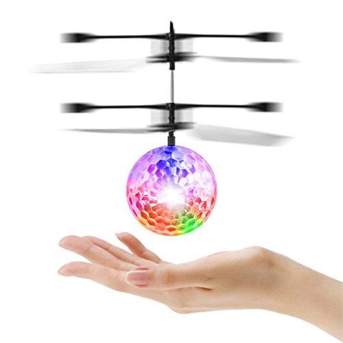 Fliegen Ball, OCDAY Kinder Fliegen Spielzeug, RC Infrarot Induktion Hubschrauber Drohne Kugel Eingebaute Gebaut In glänzende Farbe ändern LED Beleuchtung für Kinder, Jugendliche (klassischer Stil)