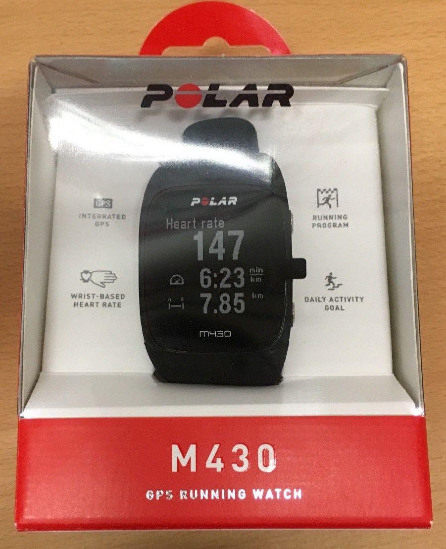 Polar M430 Laufuhr in schwarz, GPS, Pulsmessung am Handgelenk, wie neu!