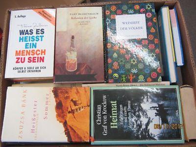 45 Bücher Hardcover Romane Sachbücher verschiedene Themen Paket 2