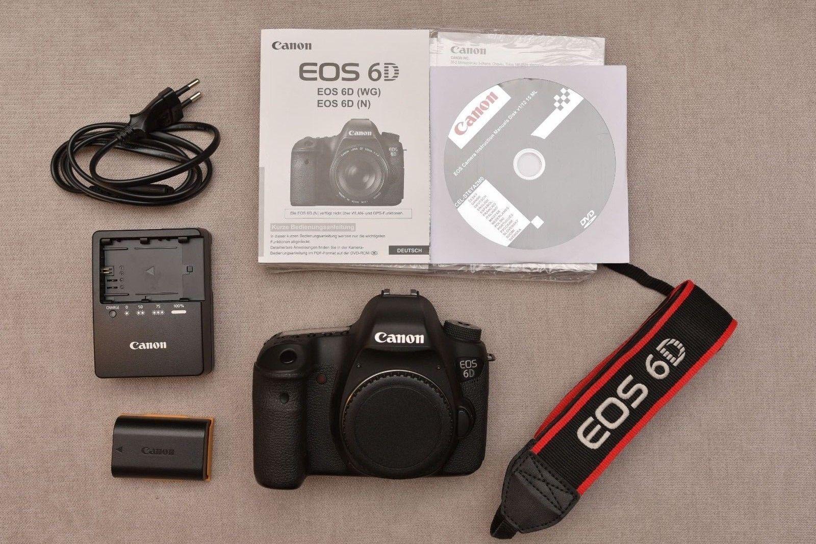 Canon EOS 6D 20.2MP Fullframe KB DSLR Digitalkamera Body, stark ...