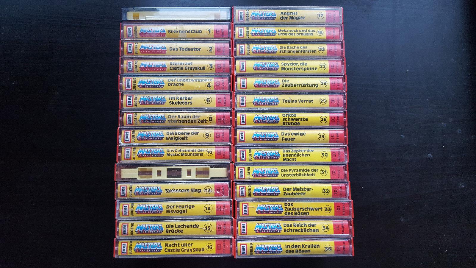 MOTU Masters of the Universe Kassetten MC Hörspiel Sammlung 28 Stück rar He-Man