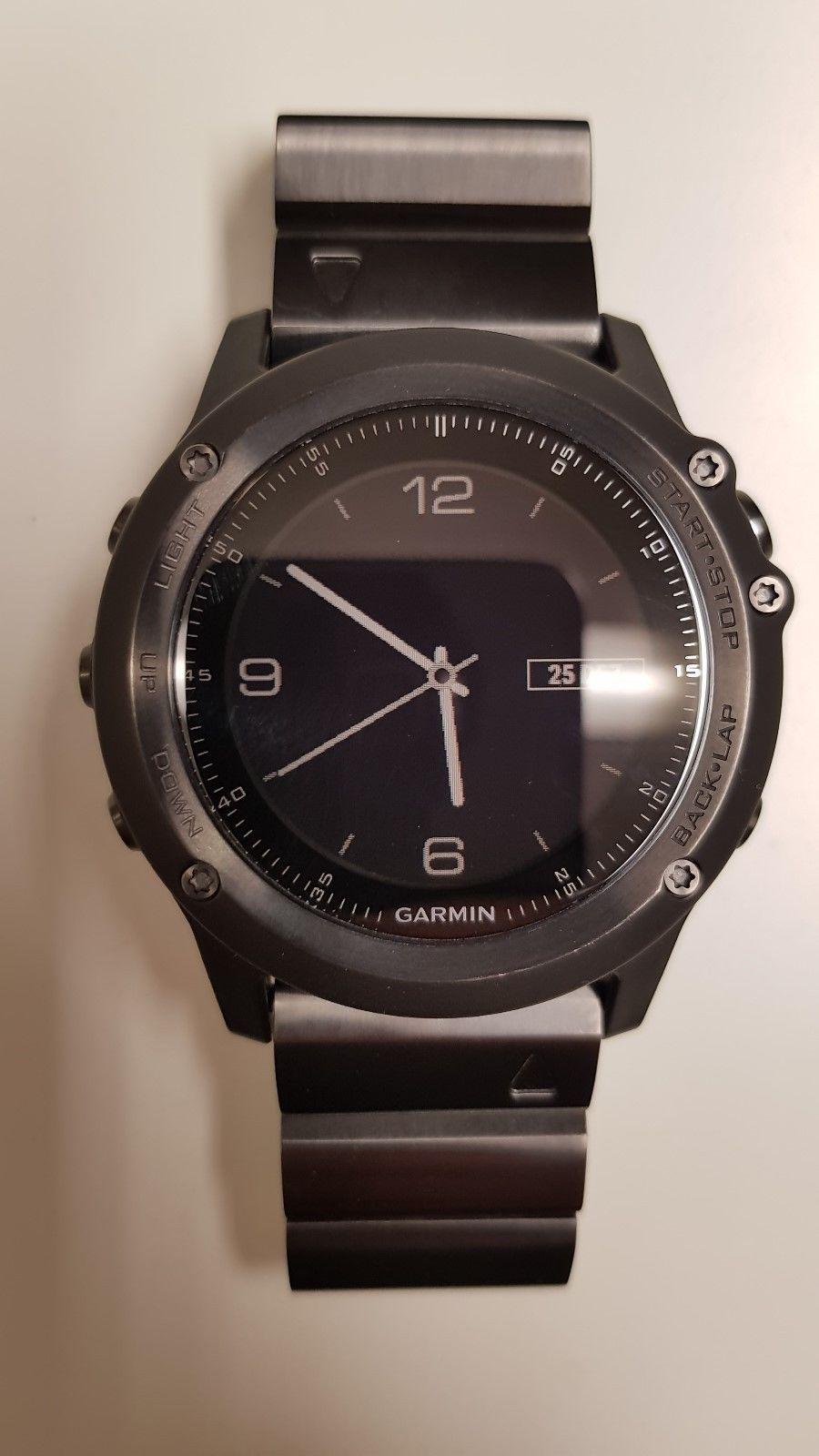 Garmin Fenix 3 Saphir HR mit Edelstahl-Armband