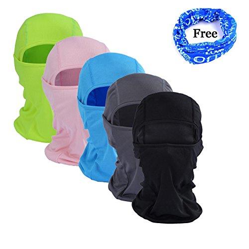 gofriend Mehrzweck-Sturmhaube Maske Outdoor Sport Maske für Damen & Herren–Ideal für Motorrad Ski Radfahren Laufen Camping Wandern–Sommer oder Winter, Seamless Half Face Maske, Grey-1