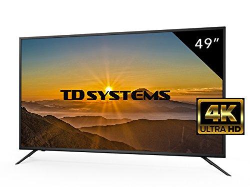 'TV 4K Ultra HD TDSYSTEMS 49Zoll k49dlm8u (Auflösung 3840x 2160/HDMI 3/VGA 1EUR/1/USB repoductor und Recorder) 4K Ultra HD Fernseher