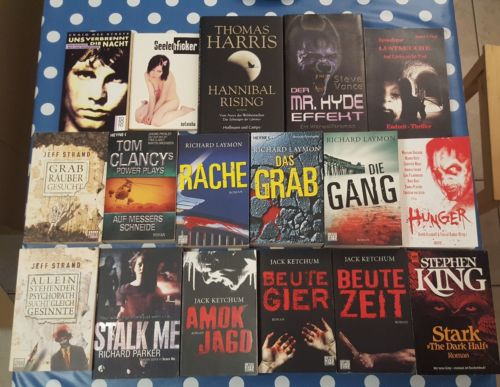 Bücher Paket Horror, FESTA Verlag, Blitz, Heyne Hardcore, Ketchum, Laymon,Strand